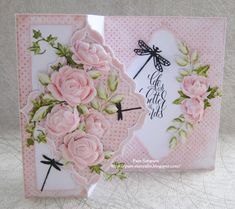 """Hello Everyone, Sharing my DT samples for Tattered Lace """"Petals Of Lace Collection"""" Launching on Create and Craft TV Thursda. Fancy Fold Cards, Folded Cards, Card Making Tutorials, Making Ideas, Create And Craft Tv, Tattered Lace Cards, Anna Griffin Cards, Beautiful Handmade Cards, Mothers Day Cards"""