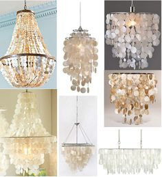 Following up on yesterdays 18 rooms with capiz shell pendants shopping guide capiz chandeliers i am going to figure out how to make one of these over the mess in my kitchen aloadofball Choice Image