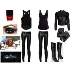Alter Ego: Natasha/Black Widow everyday wear. (Sub Pocky or toothpick for cig)