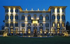 Villa San Carlo Borromeo in the night..