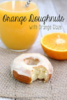 Orange Doughnuts with Orange Glaze are easier than you may think! Make a batch for breakfast! #doughnuts #orange #breakfast by lovebakesgood...