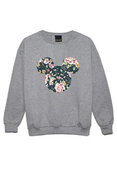 mouse floral SWEATER JUMPER womens ladies fun tumblr hipster swag fashion grunge…