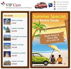 Avail the best deals for car hire all around the world with one of the leading service provider of car rentals.