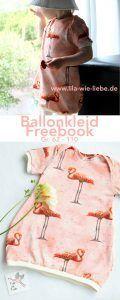 """Ballonkleid für Kinder nähen - Freebook """"Wirbelkind"""" Gr. 86-110"""