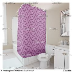 A Herringbone Pattern 2 Shower Curtain