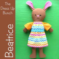 Beatrice  a Dress Up Bunch Bunny Rag Doll PDF by ShinyHappyWorld, $7.50