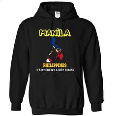 Manila, Philippines - #tshirt print #athletic sweatshirt. SIMILAR ITEMS => https://www.sunfrog.com/LifeStyle/Manila-Philippines-qbwzptplml-Black-10223387-Hoodie.html?68278