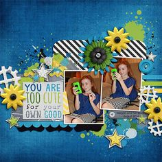 Digital Scrapbook Page by Kayla | Hey There Handsome by Bella Gypsy