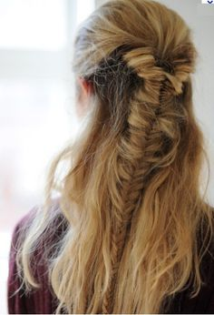 fishtail half up/ half down
