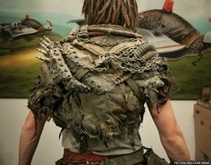 Post-Apocalyptic Fashion — (via Wasteland Barbarian Outfit (back view) by. Post Apocalyptic Clothing, Post Apocalyptic Costume, Post Apocalyptic Fashion, Mad Max, Larp, Morgana Le Fay, Marla Singer, Imperator Furiosa, Wasteland Warrior