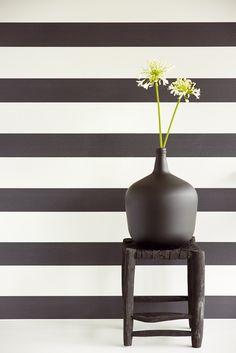 Bloom wallpaper collection by Eijffinger - Bold black & white stripe 340011 wallpapershop.com.au