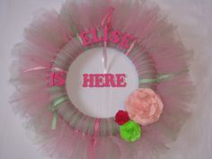 New Baby Girl Wreath/Tutu Wreath/Princess Wreath/Baby Shower Decoration/Baby Shower Gift/Birthday Wreath/Birthday Decoration. $35.00, via Etsy.