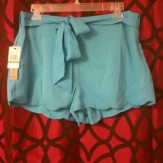 Super cute all blue shorts Adorable blue shorts , it has the zipper on the side, Energie Shorts Skorts