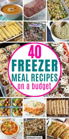 Freezer meals that you can make ahead of time! These freezer meals taste amazing, and can last up to a few months in the freezer! Chicken Freezer Meals, Freezer Friendly Meals, Budget Freezer Meals, Healthy Freezer Meals, Make Ahead Meals, Cooking On A Budget, Freezer Cooking, Frugal Meals, Healthy Recipes