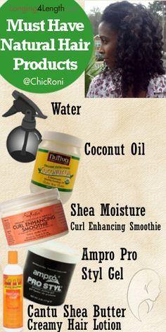 http://www.shorthaircutsforblackwomen.com/natural_hair-products/ Natural Hair Products You Should Not Live Without #naturalhair #naturalista #hair