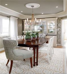 Elegant Candice Olson Designed Room. Ceiling To Define Dining Room. Gallery