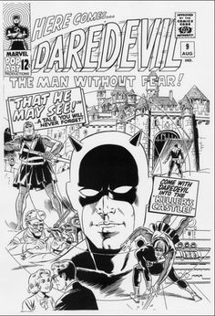 Cover to Daredevil #9 by Wally Wood, 1965.