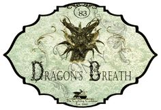 The Cackling Cauldron ~ Dragon's Breath Label