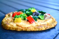Sweetpotato Pizza Crust. Healthy. Tasty. Overall Delicious. http://freshfitnhealthy.com/2013/10/09/sweetpotato-pizza-crust-with-sweetpotato-curry-sauce/
