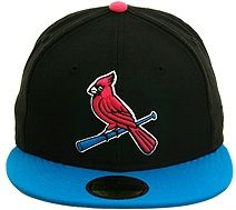 New Era 2Tone St. Louis Cardinals Alternate Fitted Hat - Black 57f54c33787