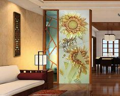 frosted glass screen decorative