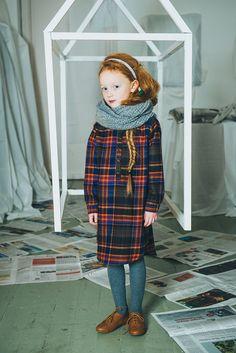 Paade Mode AW 2014 - Below the snow - Petit & Small Trendy Kids, Stylish Kids, Cute Outfits For Kids, Cute Kids, Mode Tartan, Tartan Fashion, Little Fashionista, Kid Styles, Kind Mode