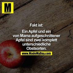 Fakt ist:  Ein Apfel ...