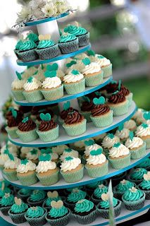 i've always liked the idea of a cupcake wedding cake. maybe even have a small cake up top for the traditional cake cutting.