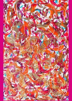 Multi-colored Abstract Expressionist Original Contemporary Artwork.orange Dominates Turquoise Red And Blue Accent.gold Reads As Tan. Greeting Card featuring the painting Golden by Expressionistart studio Priscilla Batzell