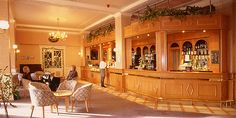 The bar at the Cairn Hotel, Harrogate.