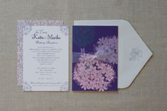 Wedding invitation design by Hozz Design Japan.
