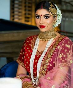 Saree Wedding, Wedding Day, Bride Portrait, Indian Bridal, Bridal Jewelry, Captain Hat, Sari, Brides, Portraits