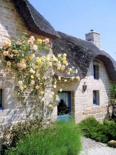 French cottage, Quistinic, Morbihan, France