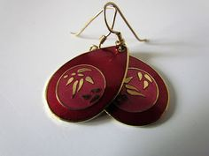 Vintage Laurel Birch earrings, thrifted