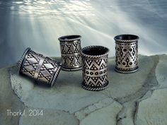 Large silver beard rings decorated with filigree and Viking motives, €35,00