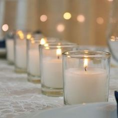 Round Glass Wax Filled Votive Candle, 2.5 in., 10 hour, 75 Pack, White