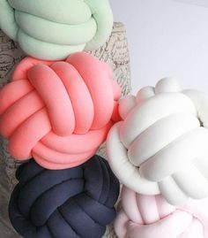 Beautiful handmade knot pillows. Many colors to choose from.