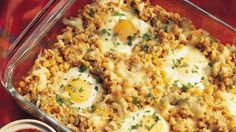 Southwestern Egg Bake Make-ahead to the rescue! This corn, chili, cheese and egg bake makes brunch time extra relaxing. Breakfast Dishes, Breakfast Time, Breakfast Casserole, Breakfast Recipes, Breakfast Ideas, Breakfast Cooking, Brunch Dishes, Egg Casserole, Egg Recipes