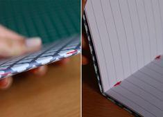 Fabriquez vous-même vos petits carnets de notes, simplement à l'aide d'un carton, de feuilles de papier imprimante et d'un peu de déco de scrapbooking ! À Mini Scrapbook Albums, Mini Albums, Arts And Crafts, Paper Crafts, Diy Crafts, Book Projects, Deco, Getting Organized, Scrapbooking
