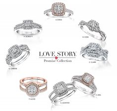 """The Love Story """"Promise"""" Collection is available at our Midwest Retailer Greenberg's Jewelers! See more #LoveStory in their Holiday Catalog!   http://www.greenbergsjewelers.com/catalog/?page=11&occasion=b7682648-46cd-42df-9ef9-9902cb965b31"""