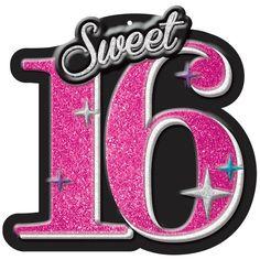 Sweet 16 Celebration Glitter Cut Out