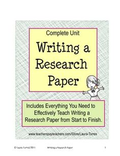 Writing a Research Paper - Complete Unit. Handouts and tools for developing strong writing skills Teaching Grammar, Teaching Writing, Teaching Ideas, Writing Process, Writing Skills, Essay Writing, Research Paper Help, Thesis Statement, College Application