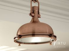 Choose on trend copper lighting fixtures, like these Boston copper pendant lights. Get inspired by browsing our complete lighting range on our website. #TheArtOfLiving