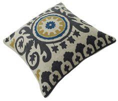 """Momeni Rug Chainstitch Pillows Ottomans 20"""" Pillow CSP-9 Blue CHAINCSP-9BLUPI20"""