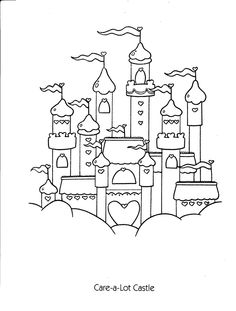 Care Bears Care-A-Lot Castle Coloring Page