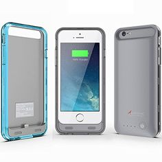 iPhone 6 Battery Case, Alpatronix BX140 Ultra-Slim Protective Extended iPhone 6 Battery Charging Case (4.7) with Removable / Rechargeable Power Cover [Fits all versions of the Apple iPhone 6 / 3100mAh Battery Pack / Full iOS 8 Compatible Support / No Signal Reduction / Apple Certified Chip / 4.7 Inch-Model Only] - (Space Gray - Blue & Smoke Color Bumpers) Alpatronix http://www.amazon.com/dp/B00NPIPP90/ref=cm_sw_r_pi_dp_Gjlsub0FPHE8A
