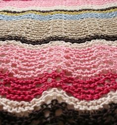 lovely ripple stitch baby blanket by dianne
