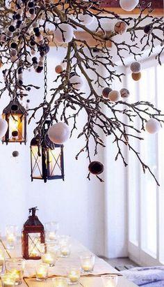 Christmas Table Decor Ideas - Winter Wonderland - Click pic for 29 Christmas Craft Ideas