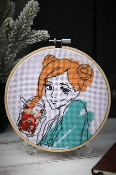 Hand Embroidery Patterns Free, Simple Embroidery, Hand Embroidery Designs, Cross Stitching, Cross Stitch Embroidery, Cross Stitch Patterns, Kawaii Cross Stitch, Anime Crafts, Modern Cross Stitch