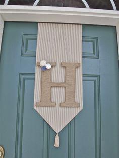 front door twine monogram